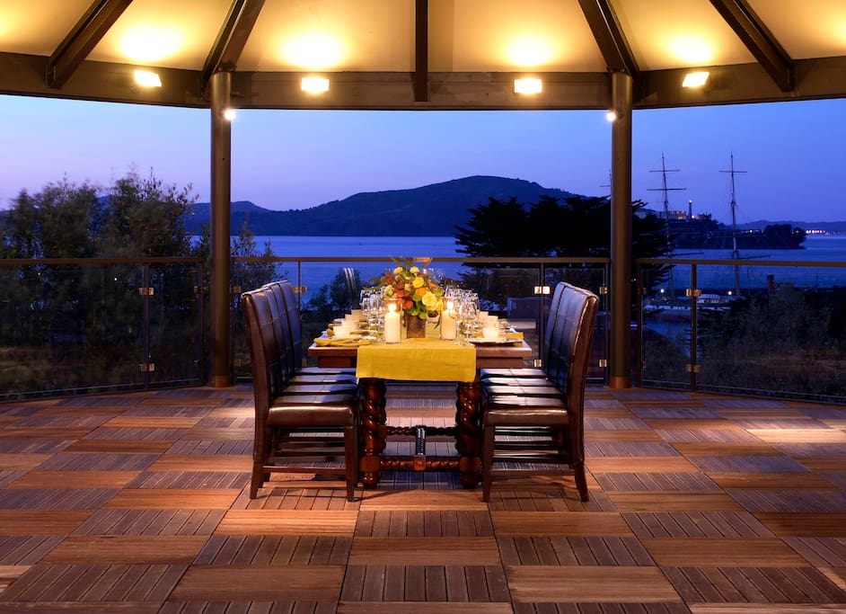 The Carillon on our Mustard Deck with spectacular SF Bay View can be used for dining and small parties.