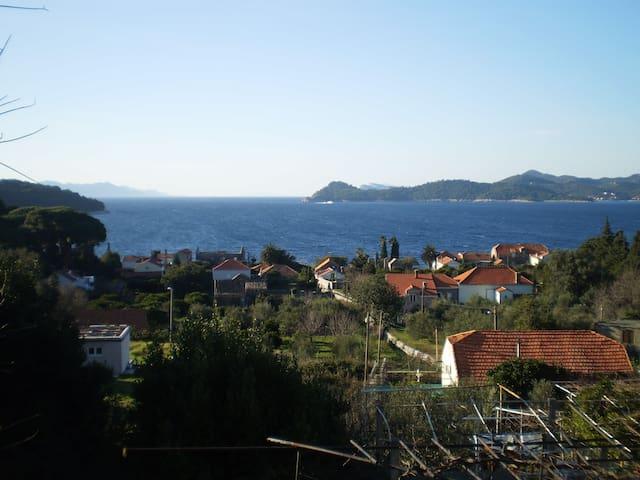 Room with sea view and balcony - Lopud - Hus