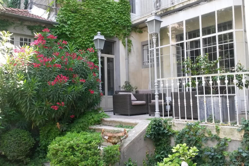 terrasse et verrière