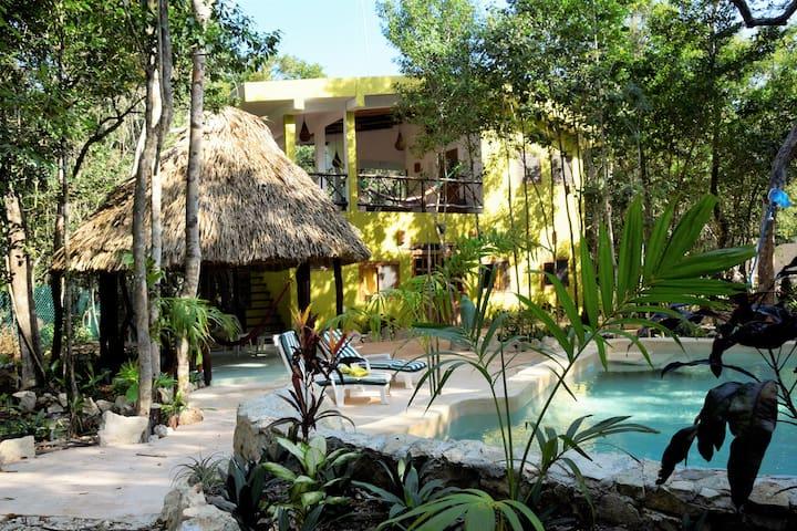 Jungle Casa Corazon de Jaguar near Tulum