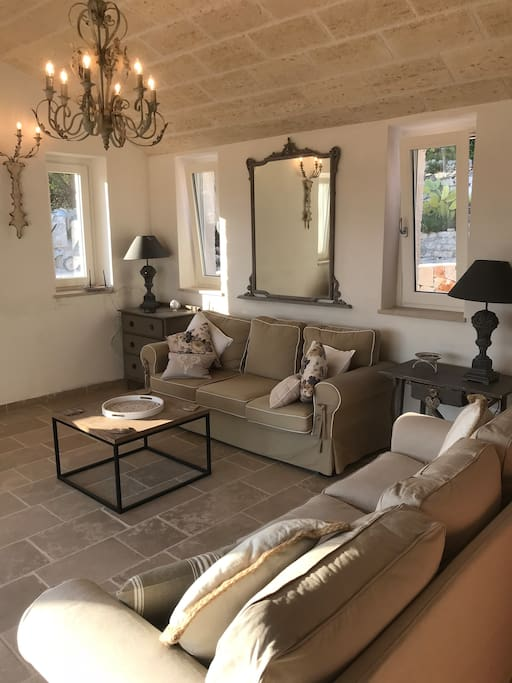 Trullo Falco - Luxury assured with interior designed soft furnishings and sympathetic colour palettes in lush tones of greys and whites running throughout.