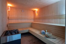 Soothe your muscles in the lovely dry sauna on-site.