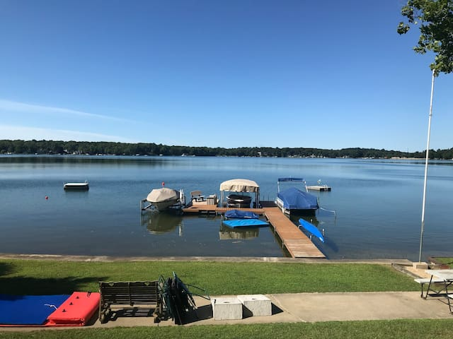 Old world lake house with boatloads of amenities