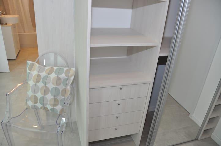2nd Bedroom closet space. In-suite bathroom