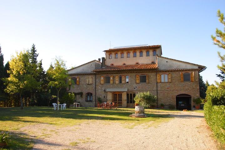 Casa con vista a San Gimignano