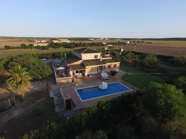 Villa at Es Trenc with a lot of nature & animals