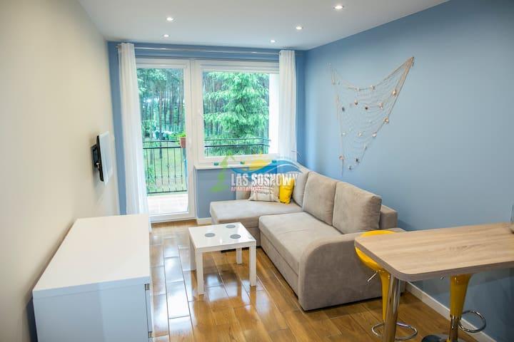 Apartament Las Sosnowy  a3-104a Blue Mare Łukęcin - Łukęcin - Apartment