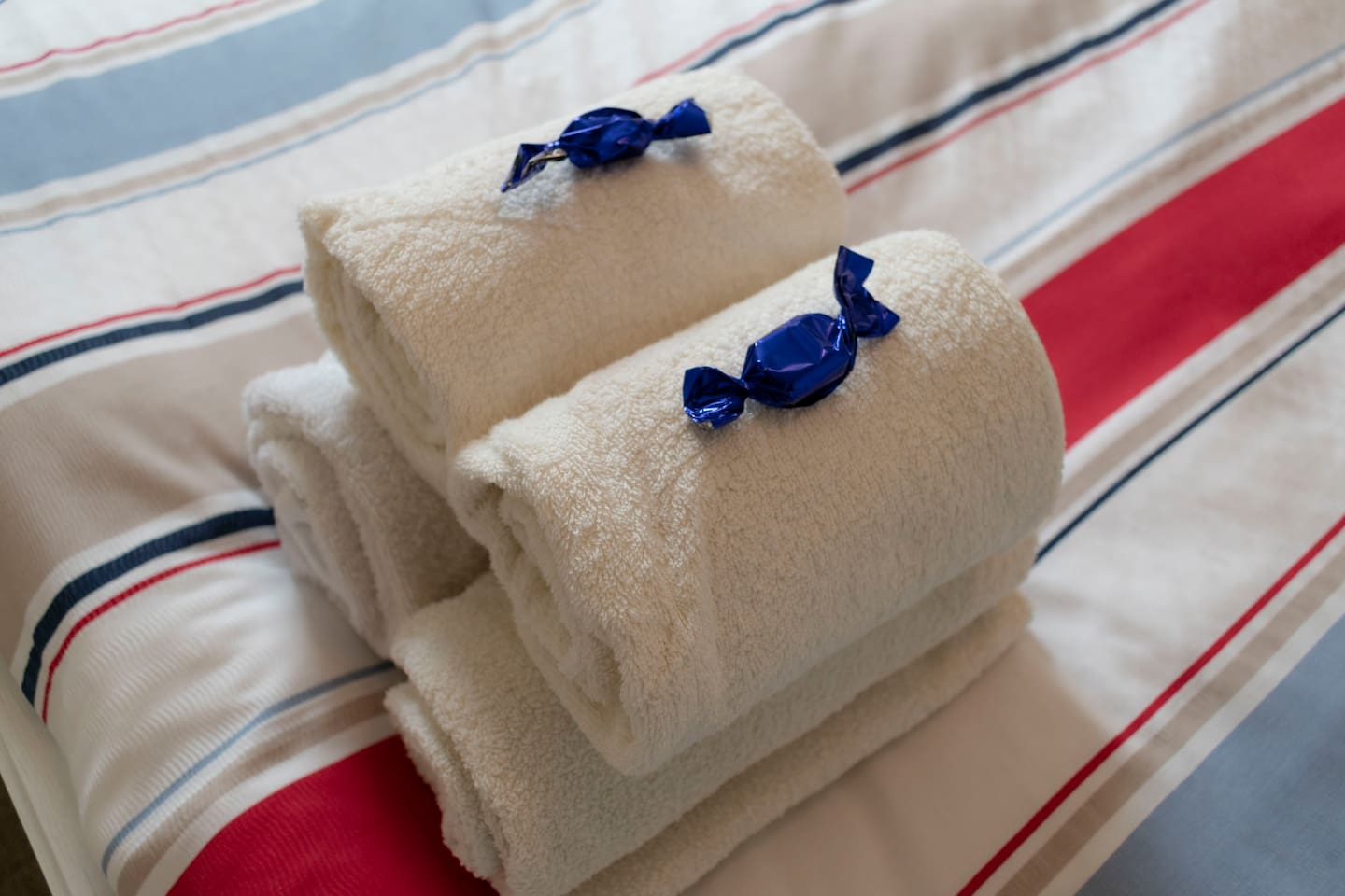 All guests will be provided with clean towels (and a little treat!) for their stay.