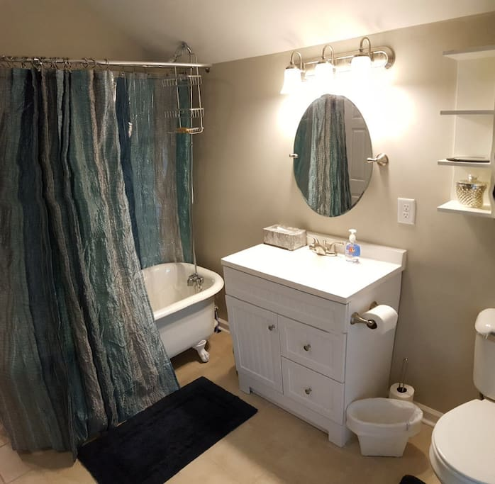Large full private bath on 3rd floor with heated floor by bedrooms; additional full bath with heated floor available on 2nd floor if needed
