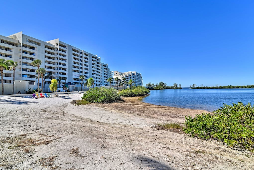 This unit is a part of the Gulf Island Beach and Tennis Club that offers a variety of luxurious amenities.