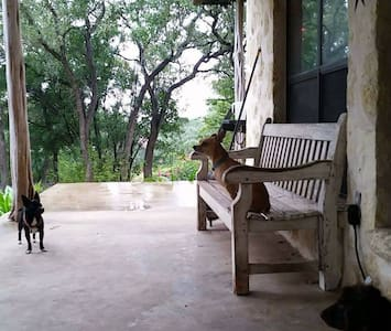 Pet friendly Hill country home on 4 acres w Pool - Helotes - Hus