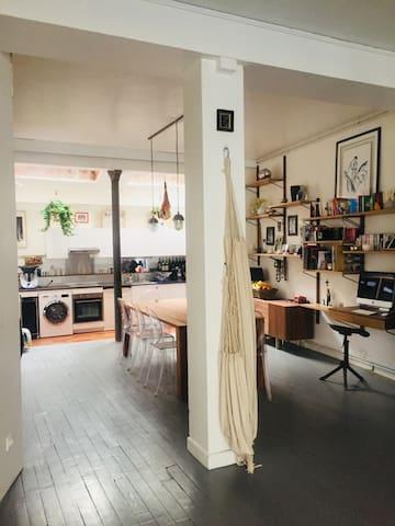 Loft familial de 115 m2 dans Paris Montmartre