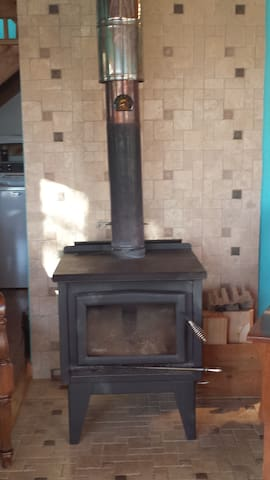 Wood stove for cozy rainy days