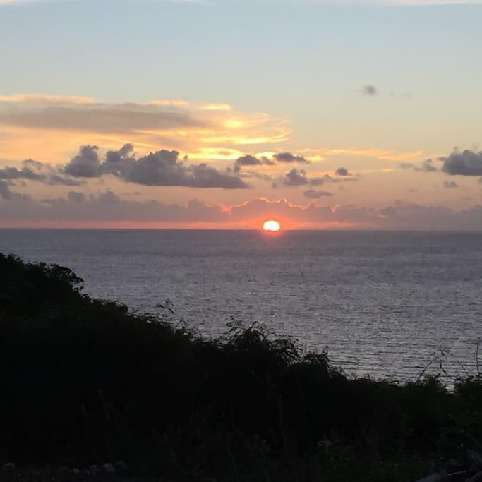 Levé du soleil côté Atlantique