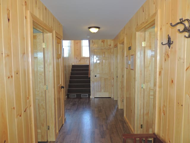The bottom hallway in vacation home 20! 4 bedrooms and 2 baths make the bottom level of vacation home 20!