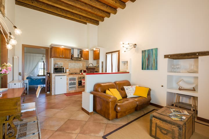 Romantic apartmen  in renovated old - belfiore - Apartamento
