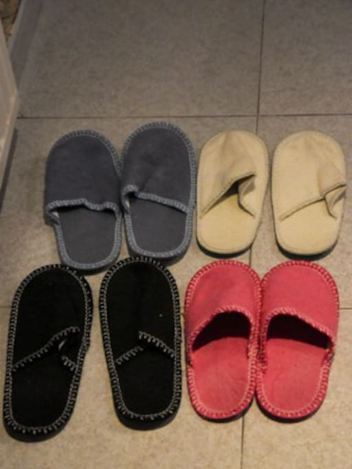 Slippers for our guests.