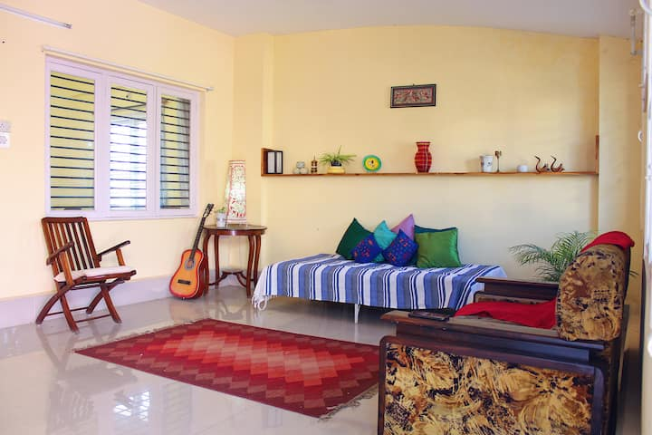 Spacious Condo with terrace garden (IISc,Manyata)