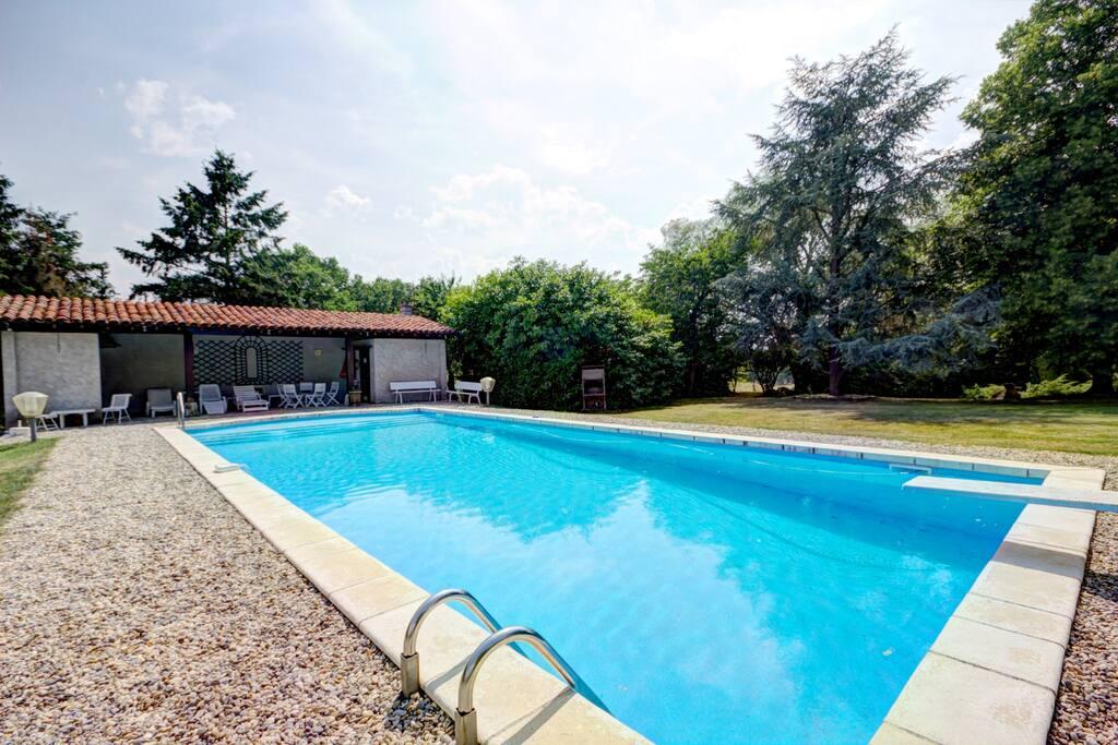 piscine vue pool house
