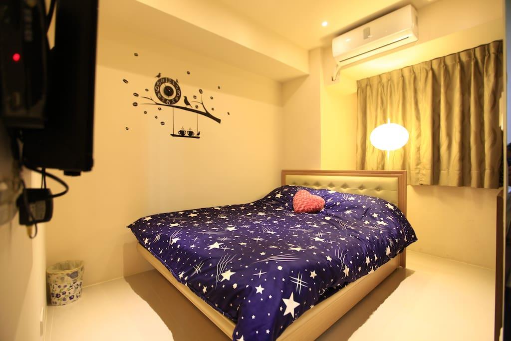 E2房型(雙人房)double bed 150CM*190CM