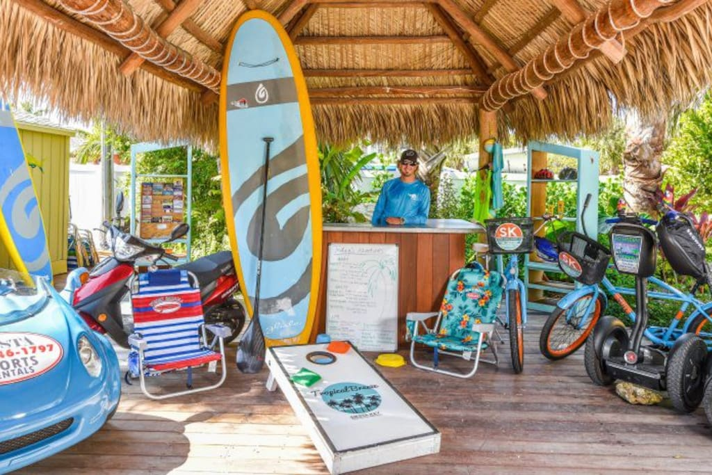 Reserve Equipment and Tours at the Adventure Tiki