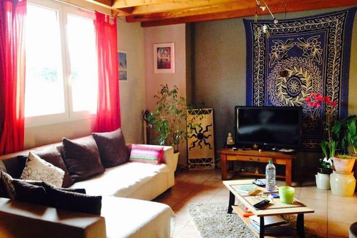 Jolie chambre spacieuse avec télévision - Ceyzériat - House
