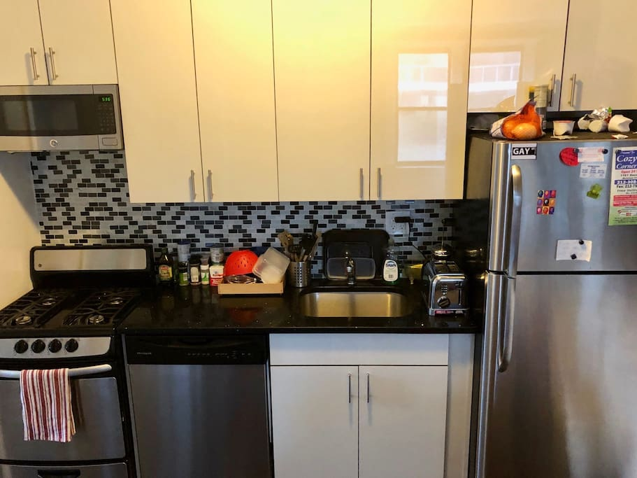 Kitchen: Equipped with new stainless steal appliances (ie. stove, dishwasher, refrigerator and microwave).