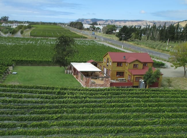 The Old Barn Vineyard Apartment,   Blenheim, NZ.