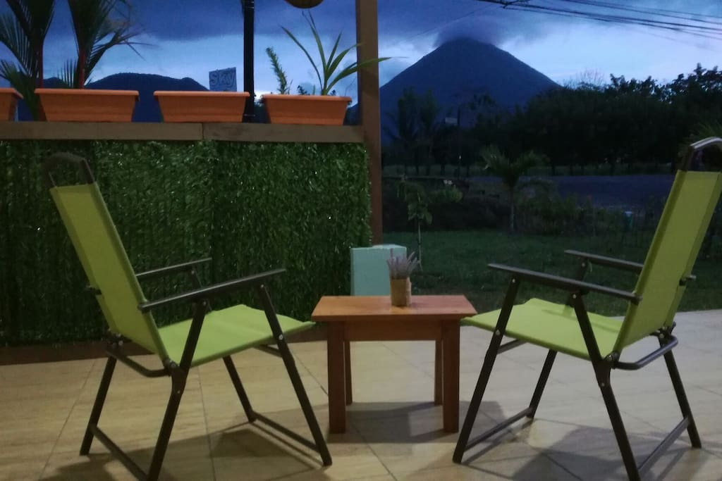 Private terrace with Arenal Volcano view