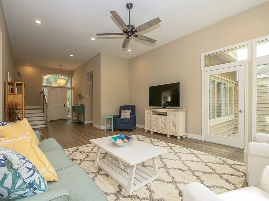 Living Room with Access to Back Deck at 22 Shell Ring