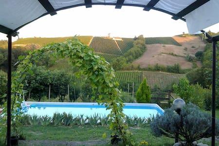 Bilocale camino piscina giardino Oltrepo Pavese - Colombaia - Apartmen