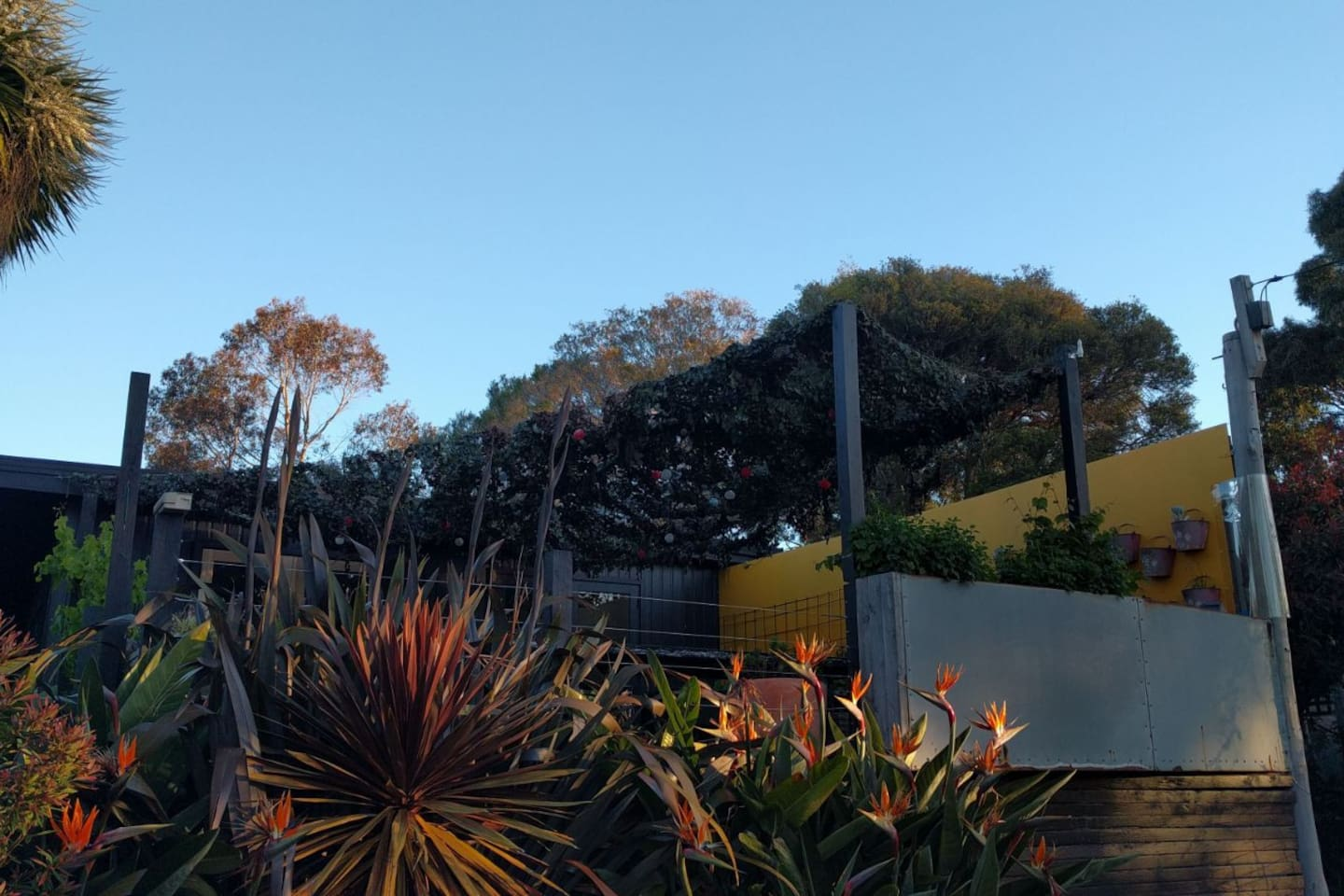 Huge deck with glimpses across Port Phillip Bay.  The perfect place to watch the sun go down