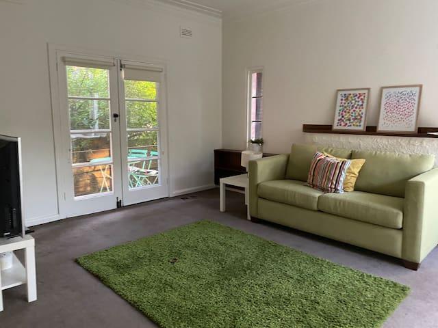 Comfortable sofa bed in beautiful area
