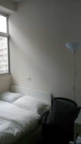 Single XL size bed.