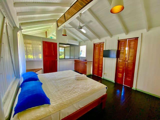 Huge master bedroom with views