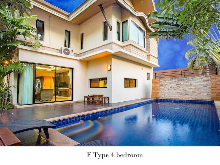 Natcha Pool Villa F Type 4Bedroom