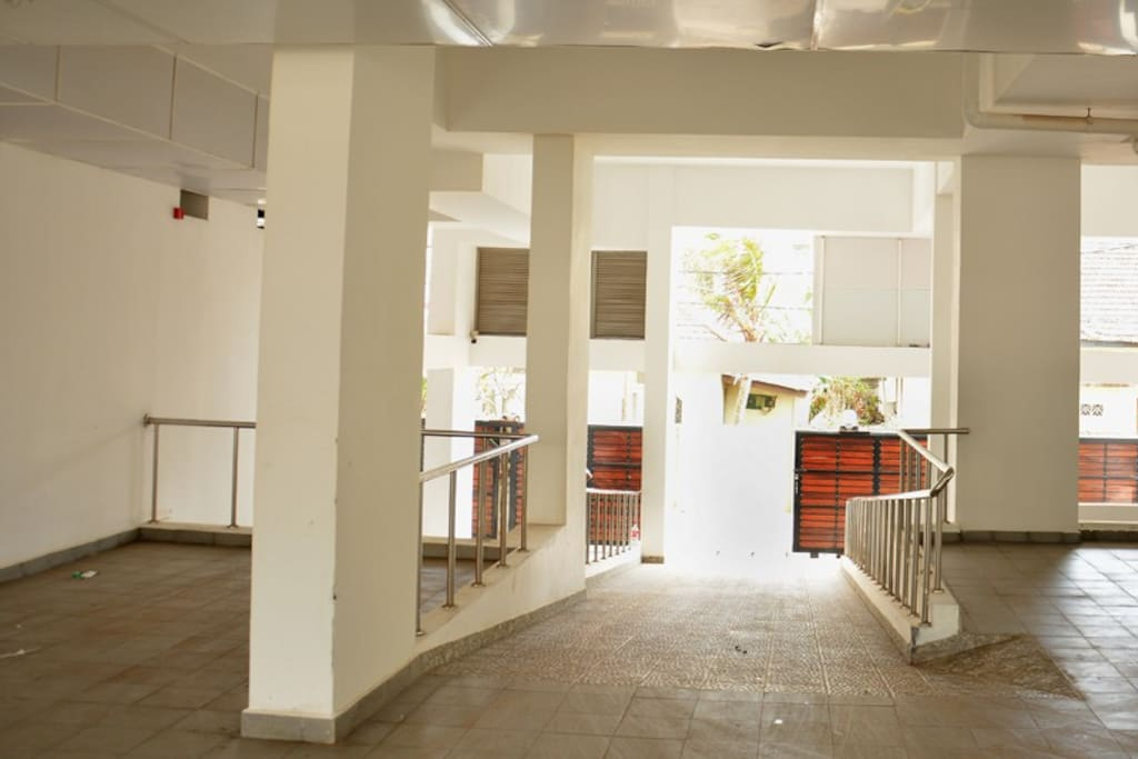 Underground garage with private parking for The Jewel of Mount Lavinia guests.