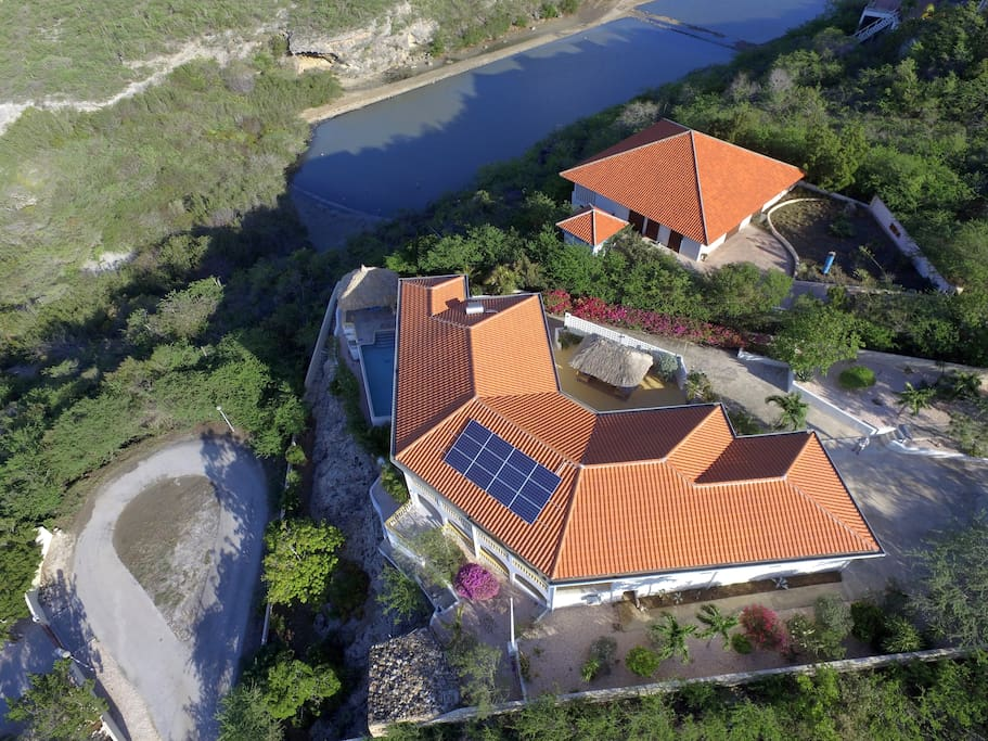 Villa Barbulete with view on the salt pans and the ocean