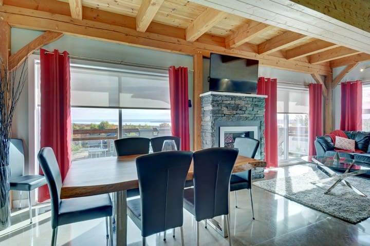Beautiful condo with views the St. Lawrence River - Beaupré - Leilighet