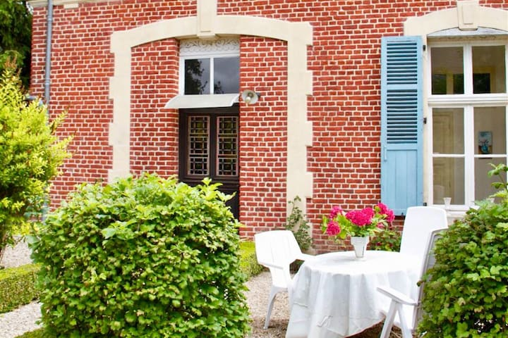 Charming red brick cottage in French countryside