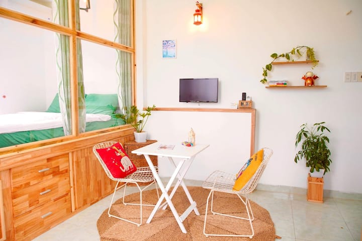 Quite Apartment- 3 minutes walk to Beach