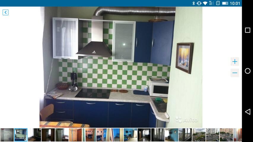 Дешевая квартира на 4 чел. в Москве - Khimki - Huoneisto