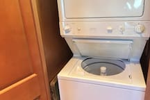 Full Size stacked Washer & Dryer.