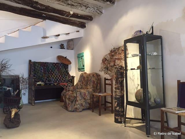 Casa de 3 hab. con taller creativo - Embid de la Ribera - Rumah