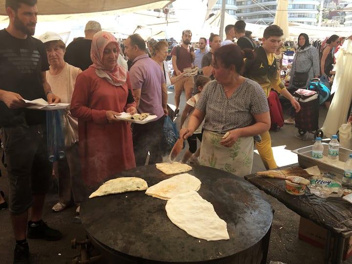 Turkish pancake is available i