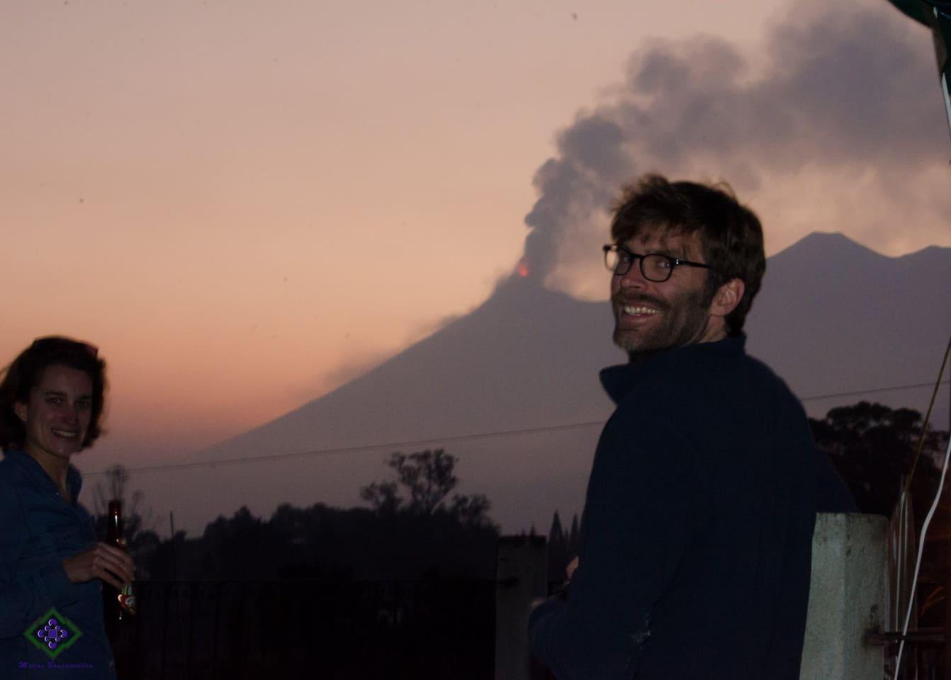 Volcano Party, Fuego erupting!!
