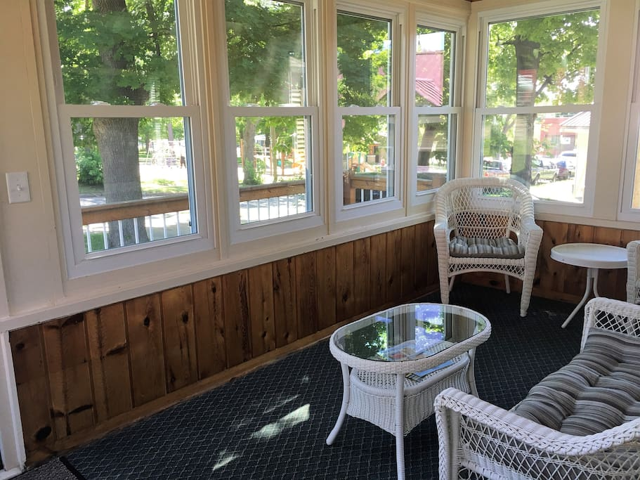 Shaded screen porch
