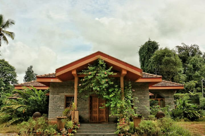 The front view of the homestay