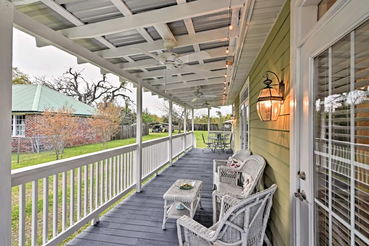 NEW! Pass Christian House w/Porch Steps From Beach