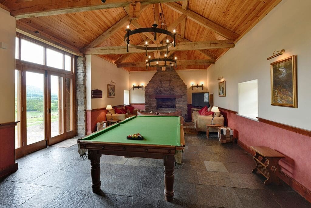 Billiard Table and Sitting Room